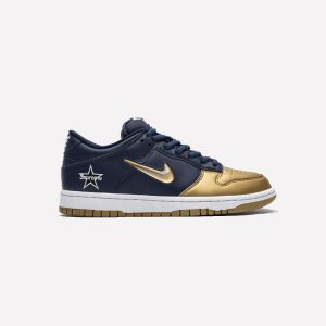 Supreme X Nike SB Dunk Low OG Jewel Swoosh Gold CK3480-700