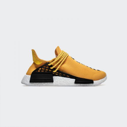 "Pharrell Williams x Adidas NMD Human Race ""Yellow"" BB0619 Real Boost"