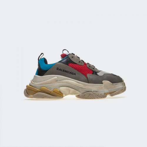 Balenciaga Triple S Grey Red Sneakers 483513W06E34365