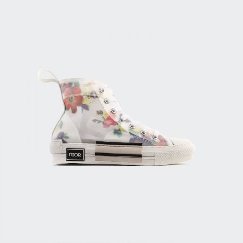 Dior Flowers technical canvas B23 high-top sneaker 3SH118YJR_H063