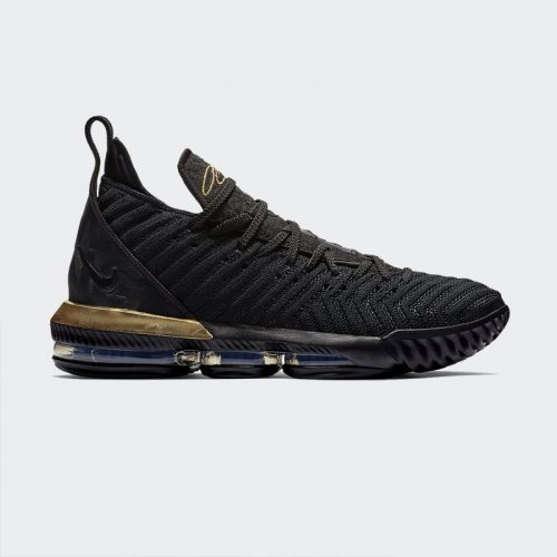 Nike LeBron 16 Basketball Shoe Black Metallic Gold BQ5969-007