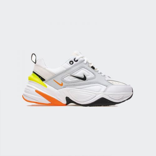 "Nike M2K Tekno ""Pure Platinum"" Volt Orange AV4789-004"