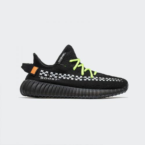 OFF White x Adidas Yeezy 350 Boost V2 Black HK1806