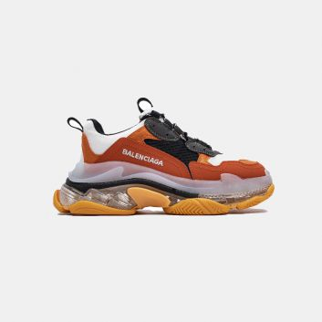 Balenciaga Triple S Clear Sole trainers White Orange Grey 656686W06G01001