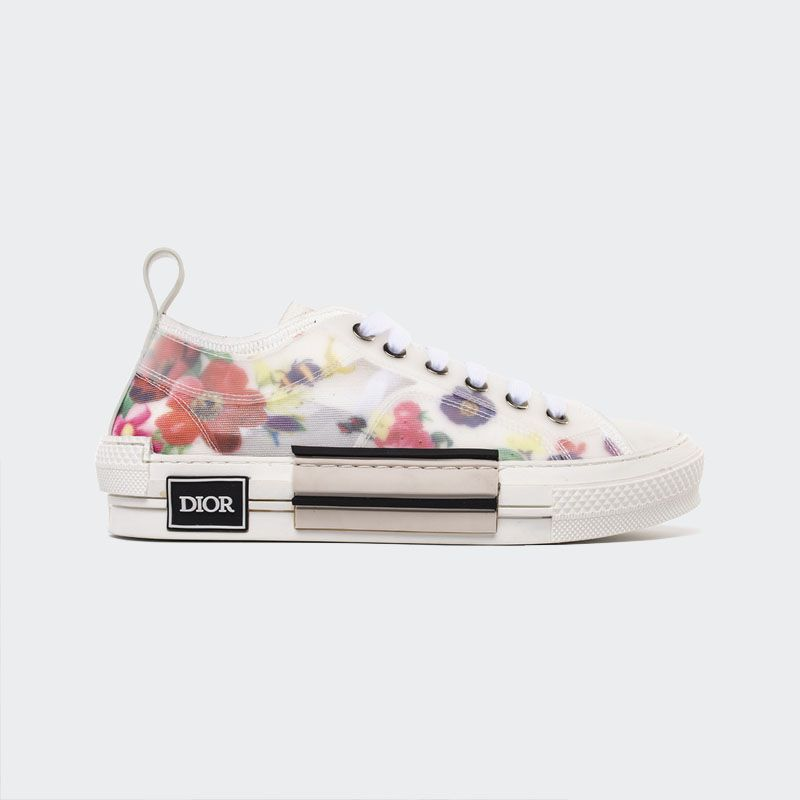 B23 h063 Dior Sneaker 3sh118yjr Low Flowers Canvas Technical Top 9WDH2EI