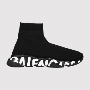 Balenciaga Wmns Speed Trainer 'Black White' 605942 W05GE 1006