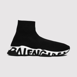 Balenciaga Wmns Speed Trainer 'Black White' 605942W05GE1015