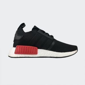 "Adidas NMD R1 Primeknit OG ""Core Black Lush Red"" S79168"