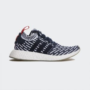 "Adidas NMD R2 Primeknit ""Navy White Red"" BB2909"