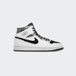"Air Jordan 1 Mid GS ""White Silver"" 554724-121"