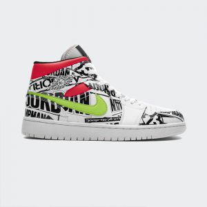 Air Jordan 1 Mid 'Over-Print Logos' 554724-119