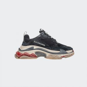 Balenciaga Triple S Black Red Sneakers 656686W06G01001