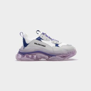 Balenciaga Triple S Clear Sole trainers White Blue 656686W06G01001