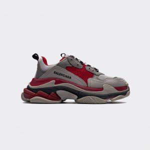 Balenciaga Triple S 'Light Gray Red' 490671W06F19000