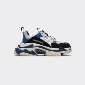 Balenciaga Triple S White Black Blue 524039 W09OH 7080