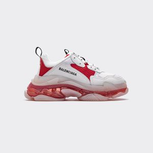 Balenciaga Triple S White light purple red 544351 W09OH 7082