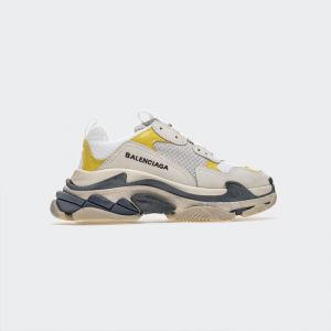 Balenciaga Triple S White Yellow Sneakers 483546W06F9000