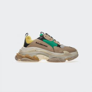 Balenciaga Triple S Yellow Green Sneakers 483513W06E37070