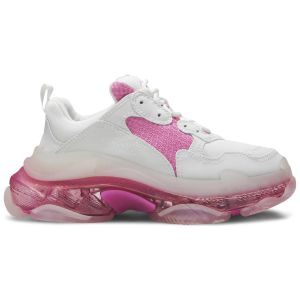 Balenciaga Wmns Triple S Clear Sole Trainer 'White Pink' 544351 W09ON 9025
