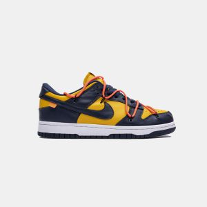 OFF WHITEx Nike Dunk SB Low White Michigan CT0856-700