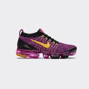 Nike Air VaporMax Flyknit 3.0 2019 Fuchsia Orange Black AJ6910-600