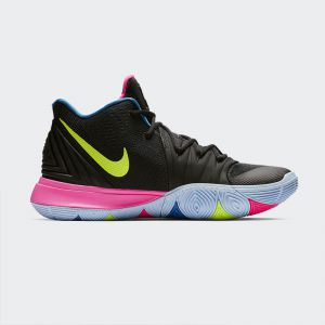 Nike Kyrie 5 BHM Men's Basketball Shoe Black Hyper Pink Volt AO2918-003