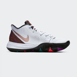 Nike Kyrie 5 BHM Men's Basketball Shoe White Multi-Color Basketball Shoe