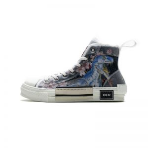 Dior B23 High Canvas Sorayama Dinosaur Navy 3SH118YQC H563