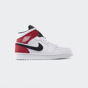 Air Jordan 1 Mid Chicago White Black Red 554724-116