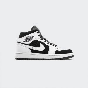 Air Jordan 1 Mid Black White 554724-113