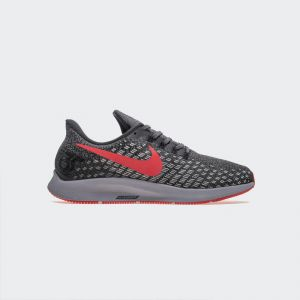 Nike Air Zoom Pegasus 35 Running Shoe Grey Bright Red 942851-601