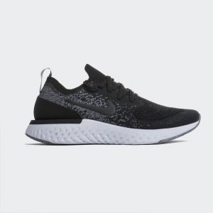 Nike Epic React Flyknit Black Dark Grey AQ0067-001