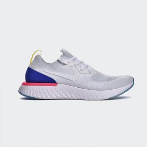 Nike Epic React Flyknit White Racer Blue AQ0067-101
