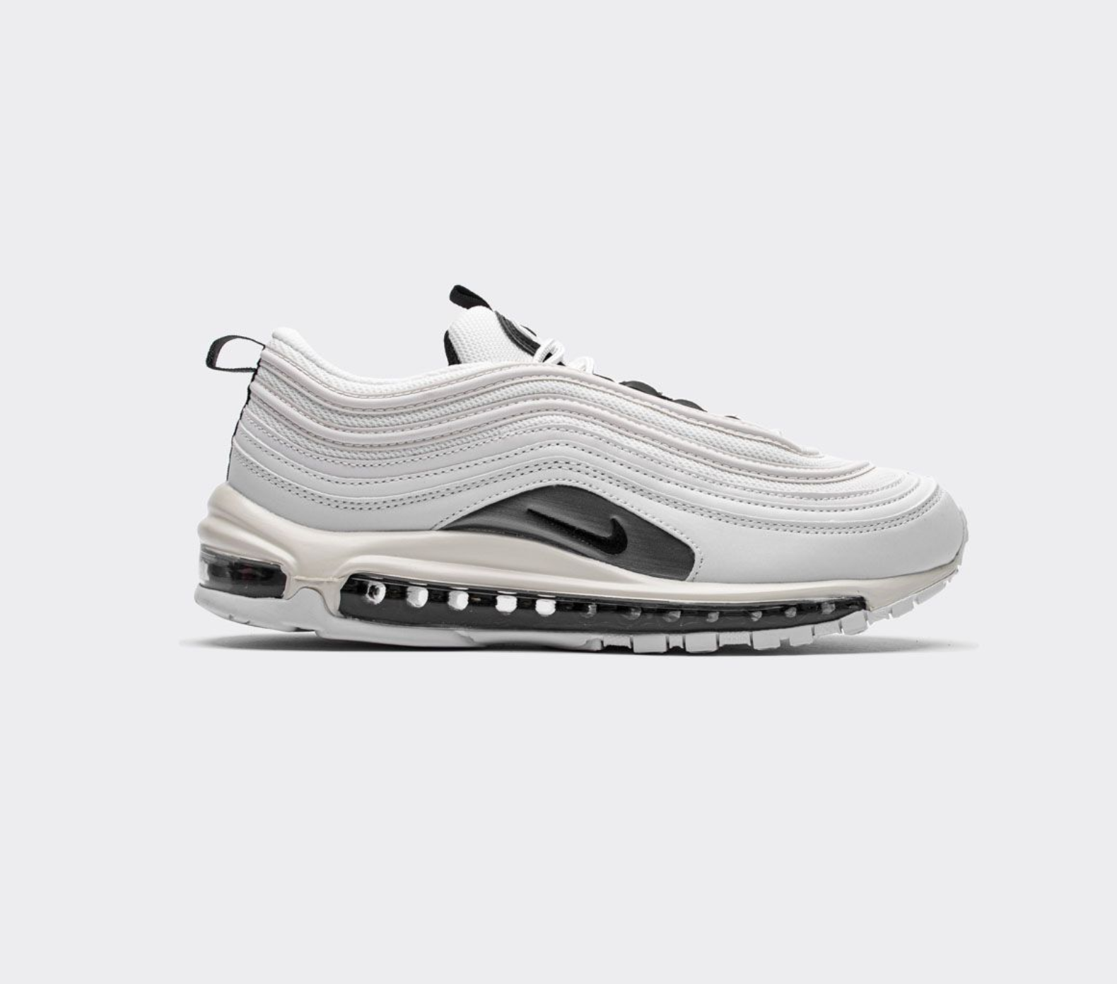 Save with new launch Nike Air Max 97 White Black Silver 921733-103
