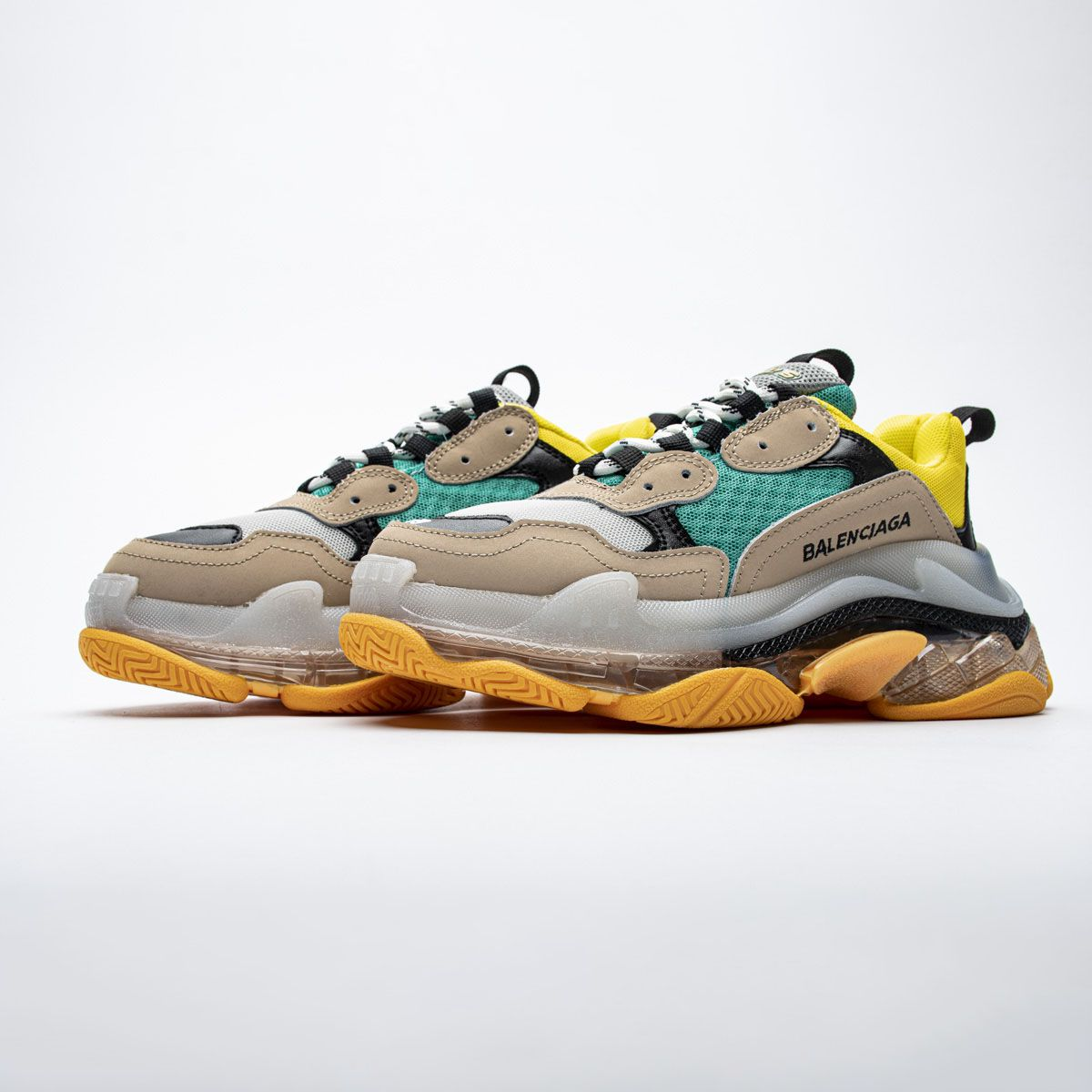 Balenciaga Triple S Yellow Green 490673 W06E3 4365