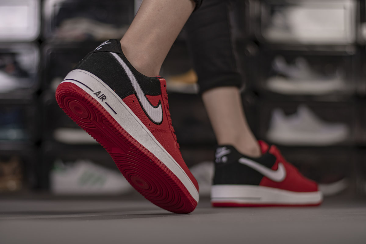 Nike Leather Air Force 1 '07 Lv8 1 Mystic Red White black