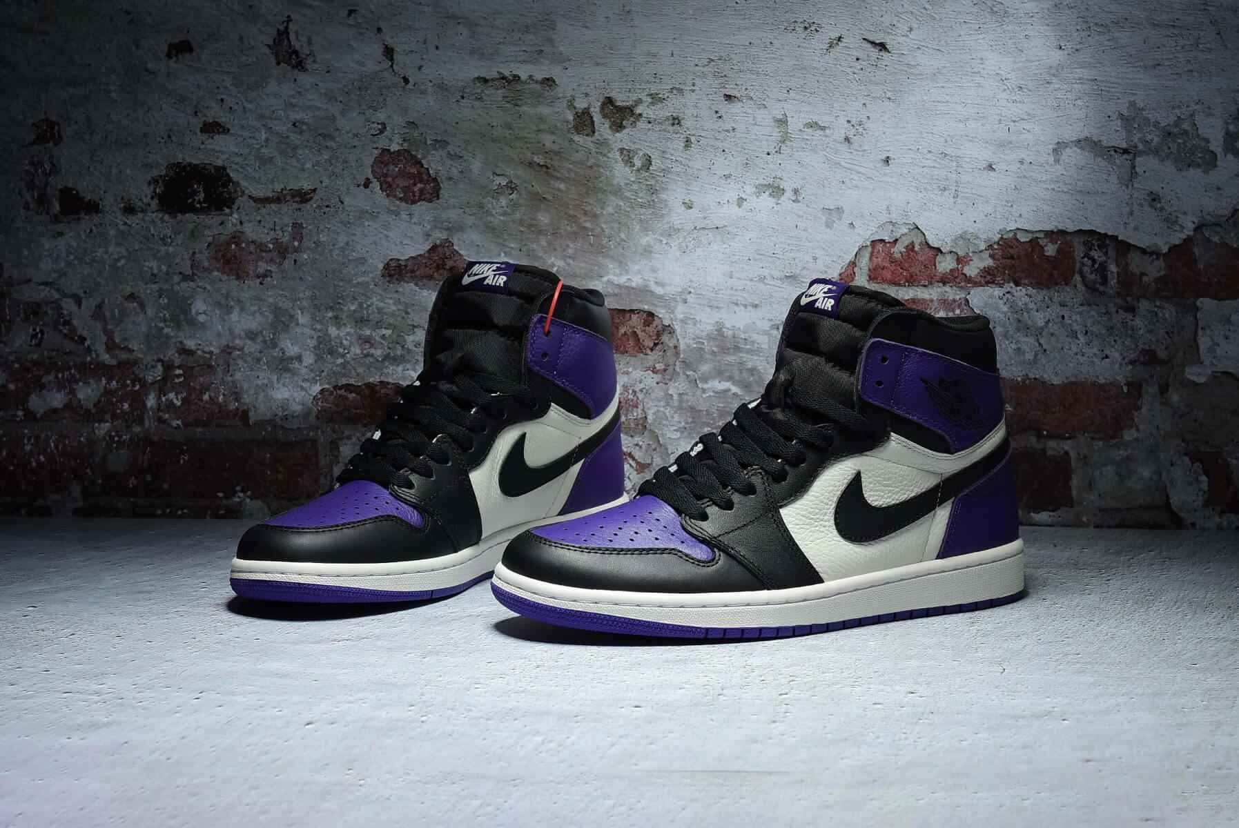 "Air Jordan 1 OG Hi Retro""Court Purple"" 555088-501"