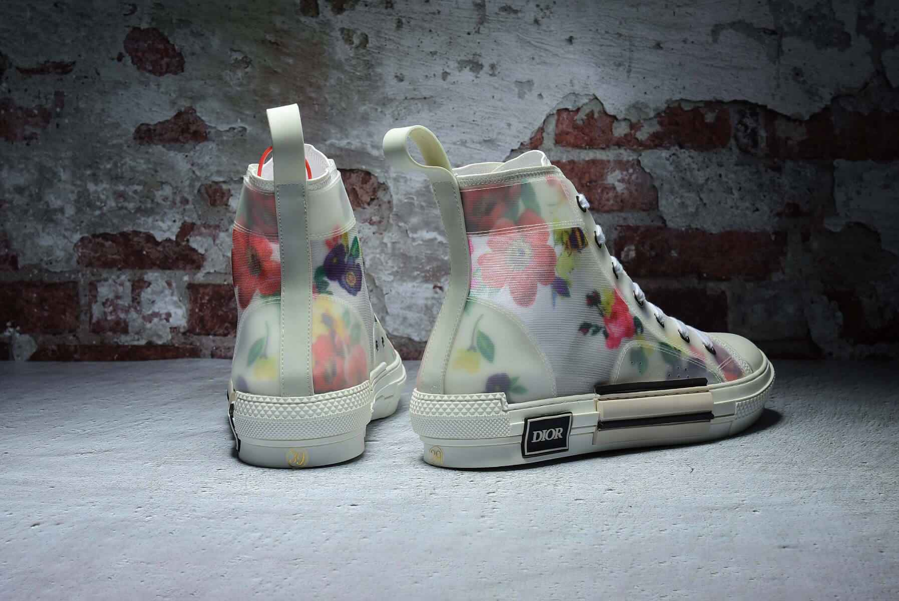 Dior Flowers technical canvas B23 high-top sneaker