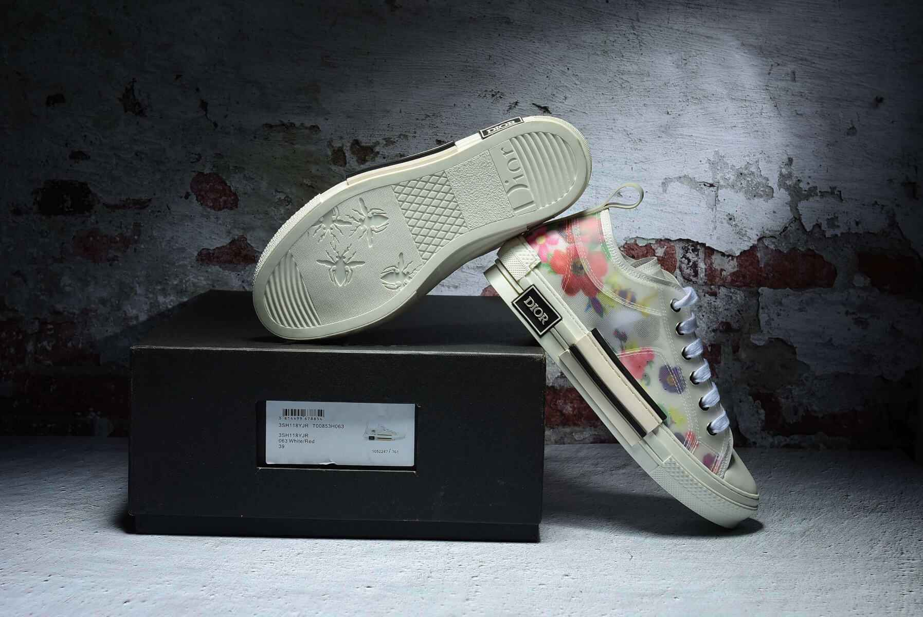 Dior Flowers technical canvas B23 low-top sneaker